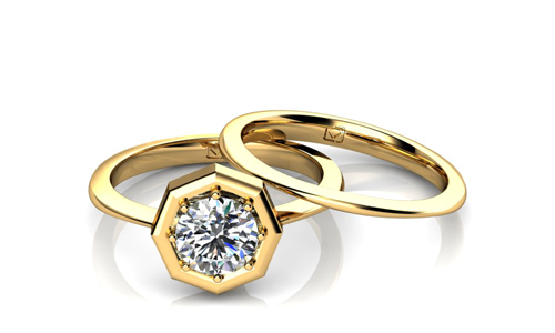 Yellow Gold Engagement Rings With A Twist