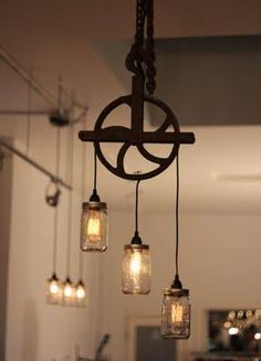 rustic-light-fixture-ideas-frameless-chrome-mirror-with-magnifier-outdoor-and-indoor-residential-security-lighting