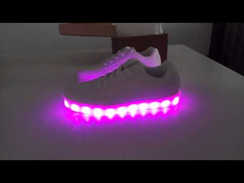 Shoes with LED
