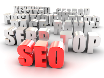 SEO SEO - Search Engine Optimization. 3d text - Red SEO, serp, top, page rank, position, blog, site, link, keyword and search. High quality and resolution 3d render.